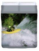 A Kayaker Running A Beautiful Spirit Duvet Cover