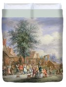 A Kermesse On St. Georges Day Duvet Cover by Angel-Alexio Michaut