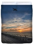 a kodak moment at the Tel Aviv port Duvet Cover