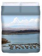 A Lake Mead Marina Duvet Cover