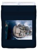 A Landing Craft Air Cushion Enters Teh Duvet Cover