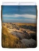 A Landscape Image Of Badlands National Duvet Cover