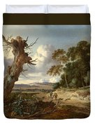 A Landscape With Two Dead Trees Duvet Cover