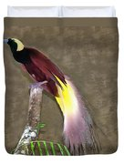 A Large Bird Of Paradise Duvet Cover