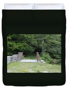 A Leisurely Stroll In Putnam County Veteran Memorial Park Duvet Cover