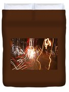 A Light Dance In Old Town Duvet Cover