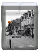 A Light On A Grey Day Duvet Cover