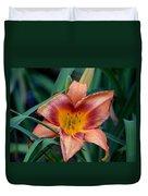 A Lily's Golden Heart Duvet Cover