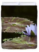A Little Lavendar Water Lily Duvet Cover