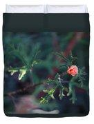 A Little Peach Flower Bud Duvet Cover