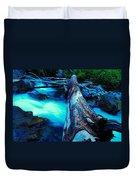 A Log Over Rapids Duvet Cover