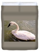 A Lone Swan Named Gracie Duvet Cover
