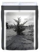 A Lonely Little Prairie Ceder Duvet Cover
