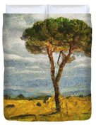 A Lonely Pine Duvet Cover