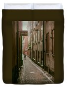 A Lonely Walk Home Duvet Cover
