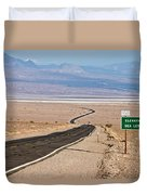 A Long Road Through Death Valley Duvet Cover