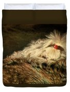 A Long Winter's Nap Duvet Cover by Lois Bryan