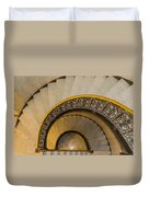 A Look Down The Stairs Duvet Cover