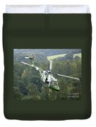 A Lynx Mk 7 Helicopter Duvet Cover