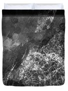 A Magical Face In The Water Abstract Black And White Painting Duvet Cover