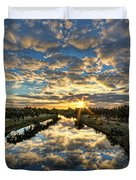 A Magical Marshmallow Sunrise  Duvet Cover by Ron Shoshani