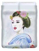 A Maiko  Girl Duvet Cover