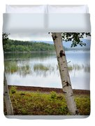 A Maine White Birch Pairing Duvet Cover