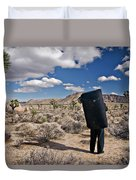 A Man Looks Into The Distance Duvet Cover