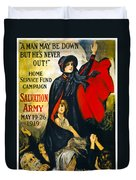 A Man May Be Down . . .   1919 Duvet Cover by Daniel Hagerman