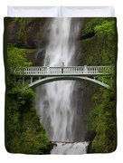 A Man Stands On The Benson Bridge Duvet Cover