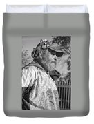A Man With A Purpose Monochrome Duvet Cover