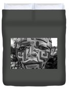 A Maze Ing Face Black And White Duvet Cover