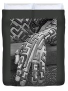 A Maze Ing Hand Black And White Duvet Cover