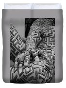 A Maze Ing Man 4 Black And White Duvet Cover