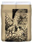 A Maze Ing Man 4 Sepia Duvet Cover