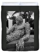 A Maze Ing Man 5 Black And White Duvet Cover