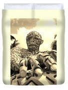 A Maze Ing Man 6 Sepia Duvet Cover