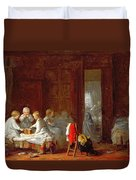 A Midnight Feast, 1866 Duvet Cover by Frederick Daniel Hardy
