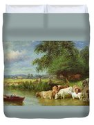 A Midsummer's Day On The Thames  Duvet Cover
