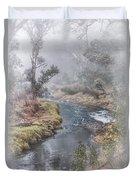 A Misty Morning In Bridgetown Duvet Cover