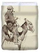 A Modern Sancho Panza Duvet Cover by Frederic Remington