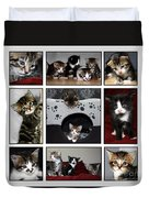 A Montage Of Kittens Duvet Cover