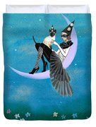 A Moon Cat  Duvet Cover