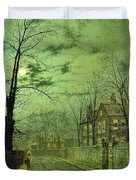 A Moonlit Road Duvet Cover