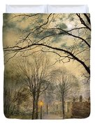 A Moonlit Stroll Bonchurch Isle Of Wight Duvet Cover