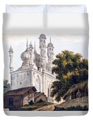 A Mosque At Gazipoor Duvet Cover by William Hodges