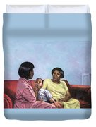 A Mothers Strength Duvet Cover