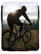 A Mountain Biker Makes His Final Duvet Cover