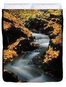 A Mountain Stream Carves A Path Duvet Cover