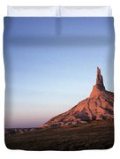 A Mountain Surrounded By Prairies Duvet Cover